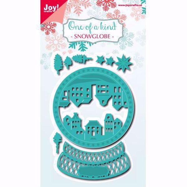 Snowglobe - Snekugle - die 6002/0926  standsejern til scrapbooking og kort fra Joy Crafts