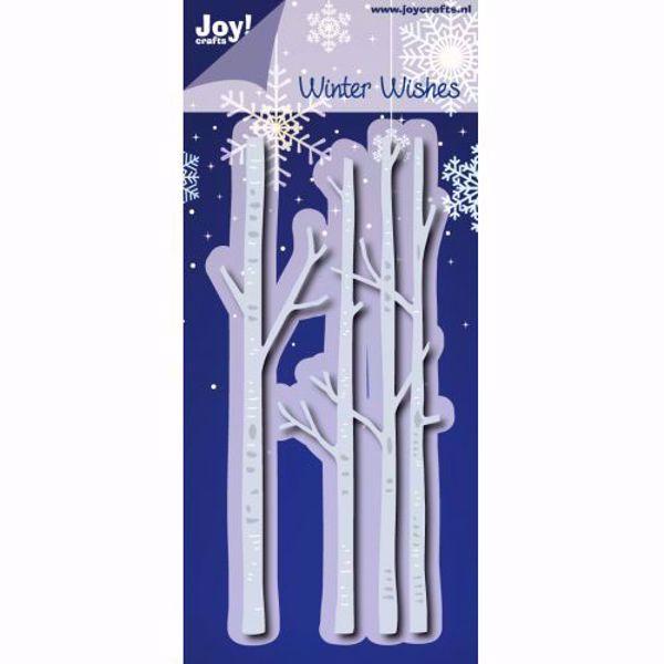 Birch Logs - Birke stammer - die 6002/0928 standsejern til scrapbooking og kort fra Joy Crafts