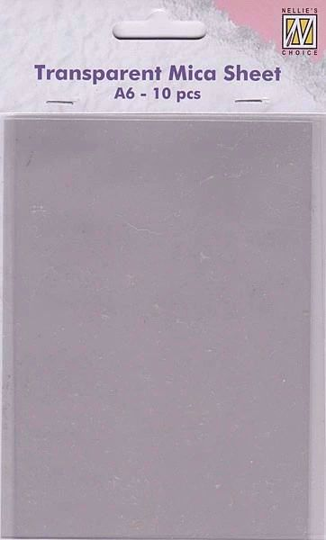 Mica Sheets A6 10 stk - MICA001 fra Nellies Choice