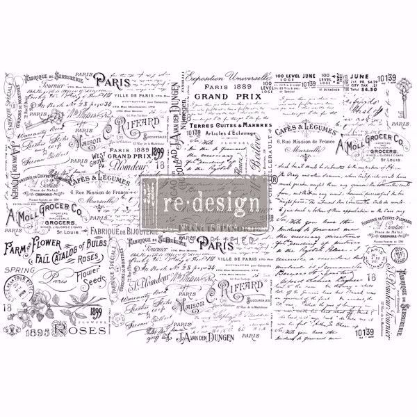 Re-Design with Prima - Zoey - 48,3 x 76,2 cm Mulberry Tissue Paper til decoupage scrapbooking og kort - 644758