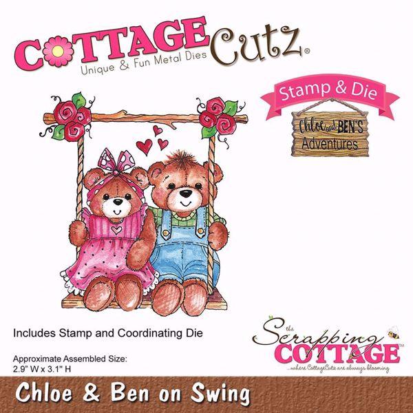Chloe & Ben on Swing standsejern til scrapbooking - CCS-026 - Chloe and Ben's Adventures