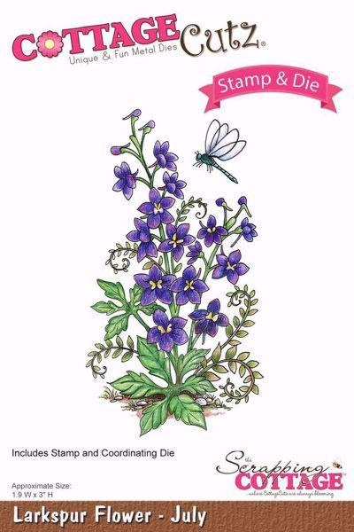 Larkspur Flower - July  - standsejern til scrapbooking - CCS-007