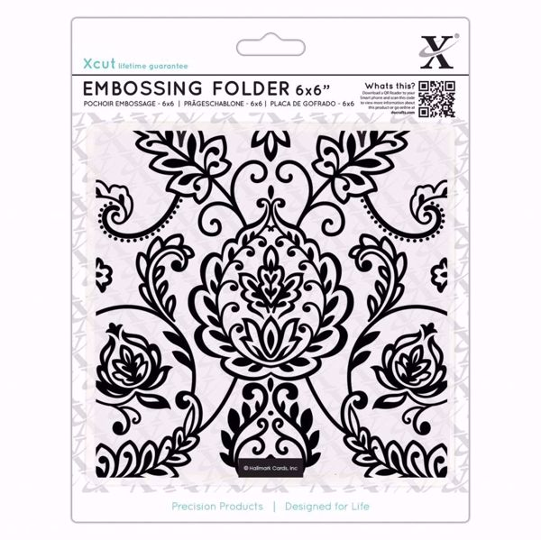 Arts & Crafts Tile -  embossing folder fra X-cut, XCU515925