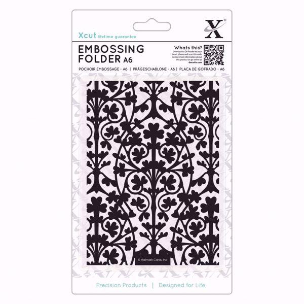 Ornate Foliage -  embossing folder fra X-cut, XCU515206