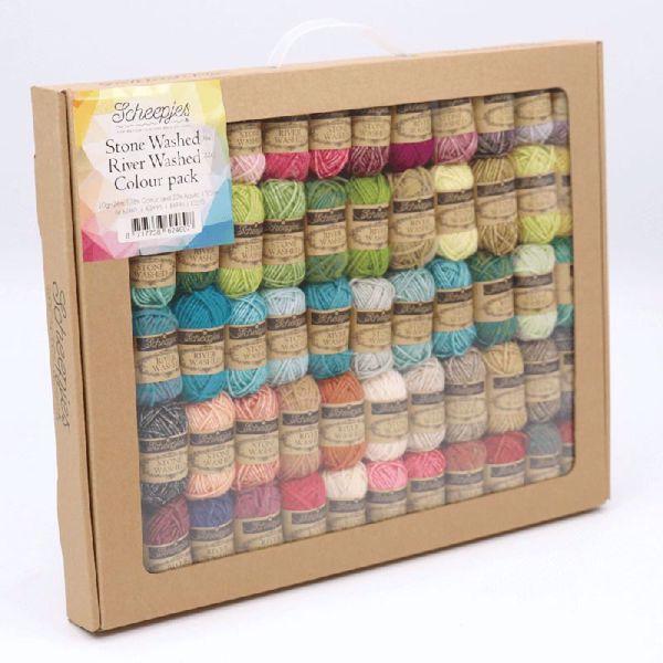 Garnpakke fra Scheepjes - Stone Washed og River Washed Colour pack 624607
