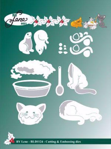 By Lene Dies - Katten og musen om den varme grød - BLD1124 - dies standsejern og embossing til scrapbooking og kort