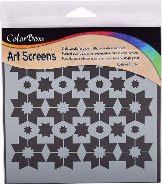 ColorBox Art Screens Star Points Stencil 15 x 15 cm mask, stencil fra Clearsnap