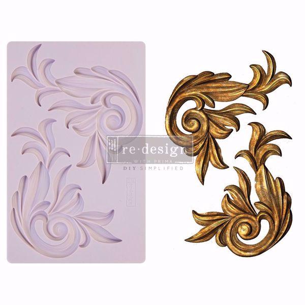 Re-Design with Prima Antique Scrolls silikone Form - 650414