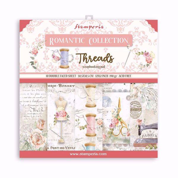 Stamperia Romantic Threads design papir pakning til scrapbooking og kort - SBBL88