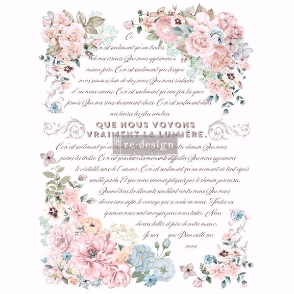 Re-design with Prima - Pure Light Floral 60 x 88 cm Decor Transfer - 649937