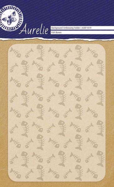 Fiskeben embossing folder fra Aurelie - AUEF1019