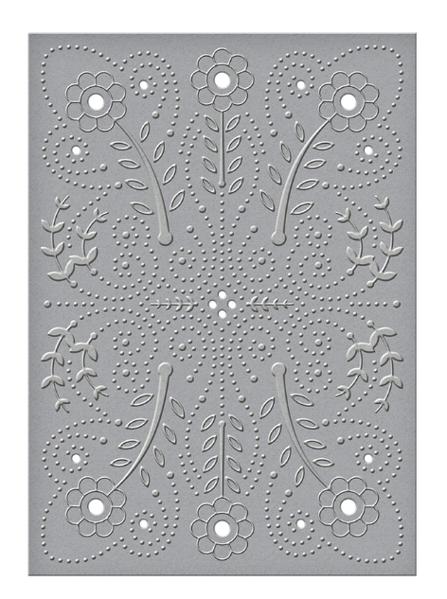 Amor - Floral Splash embossing folder fra Spellbinders - CEF-011