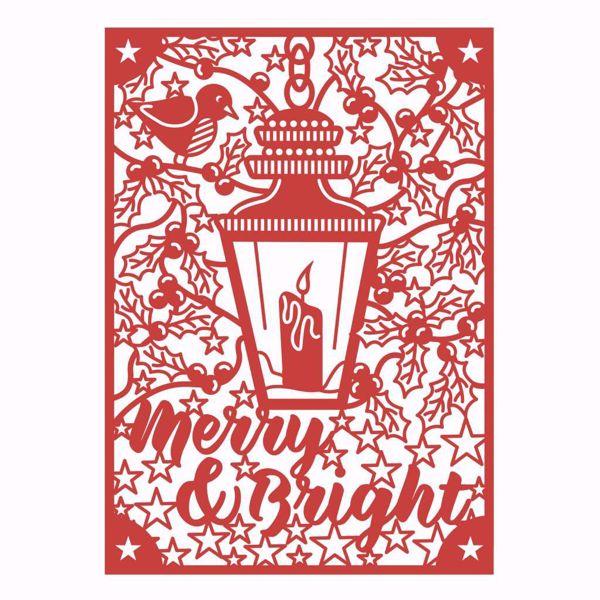 Julelygte Dies - Merry & Bright - FEDIE264X18 - dies standsejern og embossing til scrapbooking og kort
