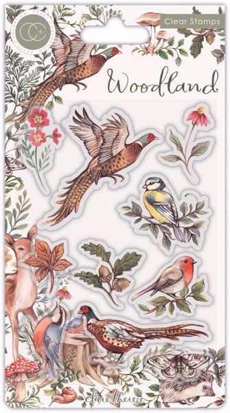 Woodland Birds - Fasaner - Silikone stempler fra Craft Consortium til scrapbooking og kort - CCSTMP054