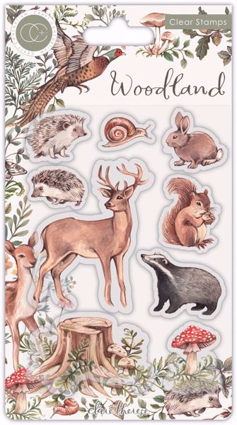 Woodland Animals - Skovens dyr - Silikone stempler fra Craft Consortium til scrapbooking og kort - CCSTMP053