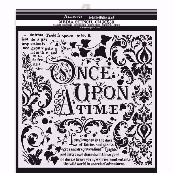 Once upon a time - KSTDG06 mask, stencil fra Stamperia