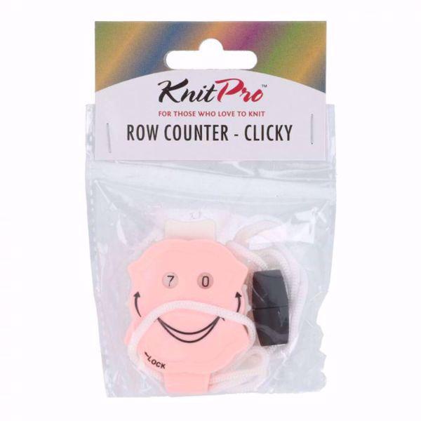 """Rækketæller """"Clicky"""" fra Knitpro med låsemekanisme - 10862"""