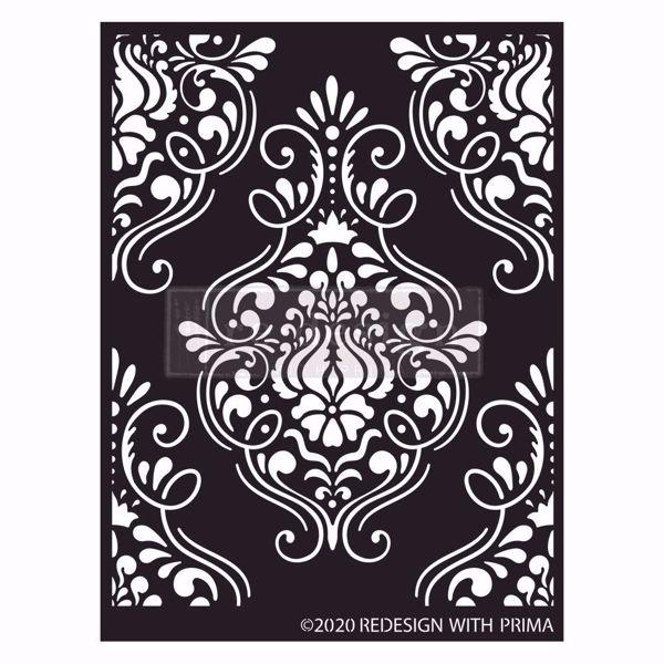 Re-design with Prima Decor Stencils - Flourish Emblem 650605