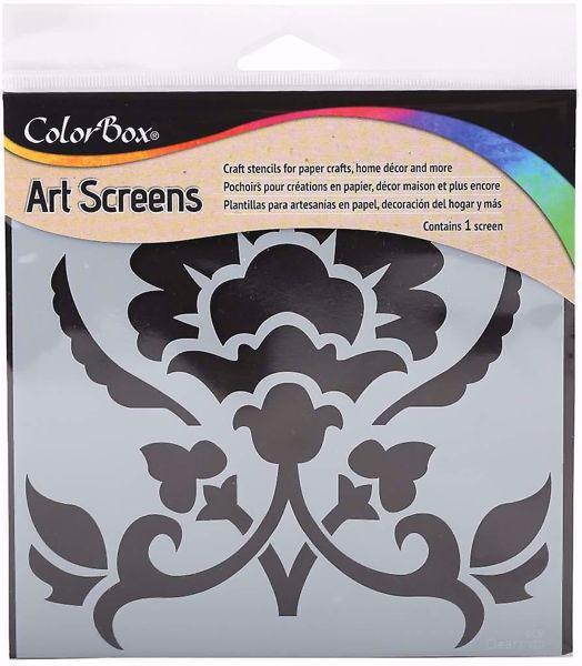 ColorBox Art Screens Ornamental Stencil 15 x 15 cm mask, stencil fra Clearsnap