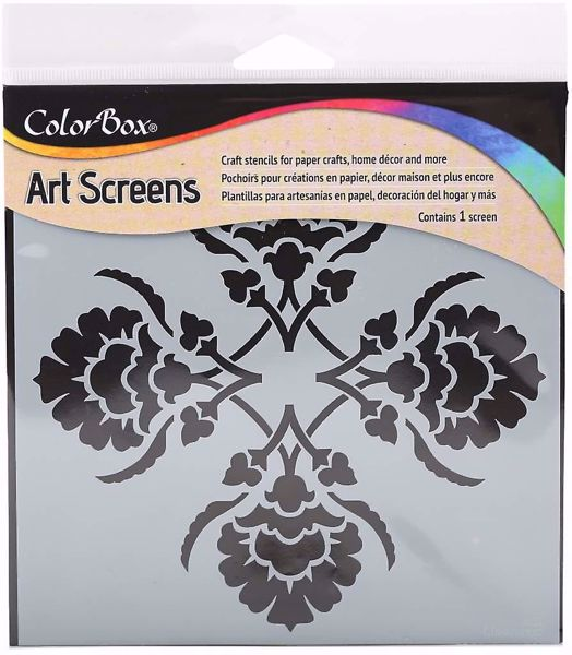 ColorBox Art Screens Damask Stencil 15 x 15 cm mask, stencil fra Clearsnap
