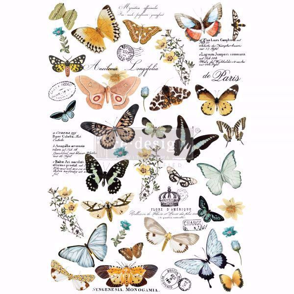 Re-design with Prima - Butterfly Dance 60 x 88 cm Decor Transfer - 647636