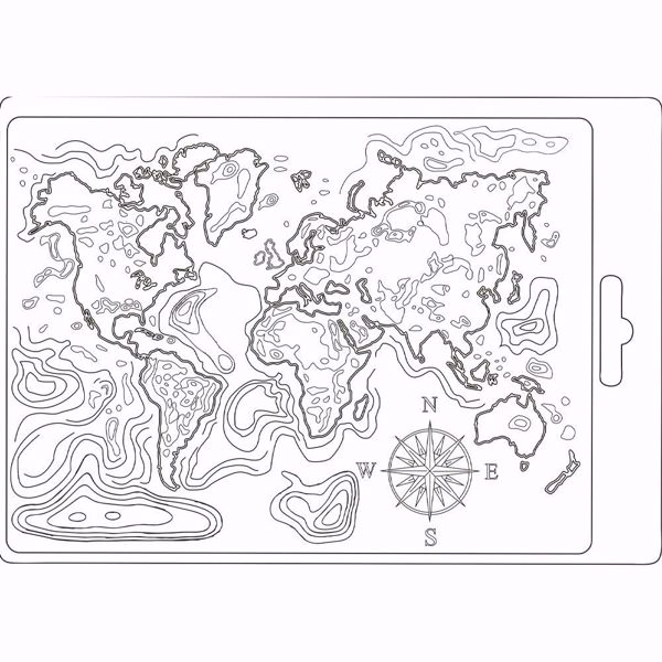 Stamperia Soft Mould A5 Map of the World - K3PTA544