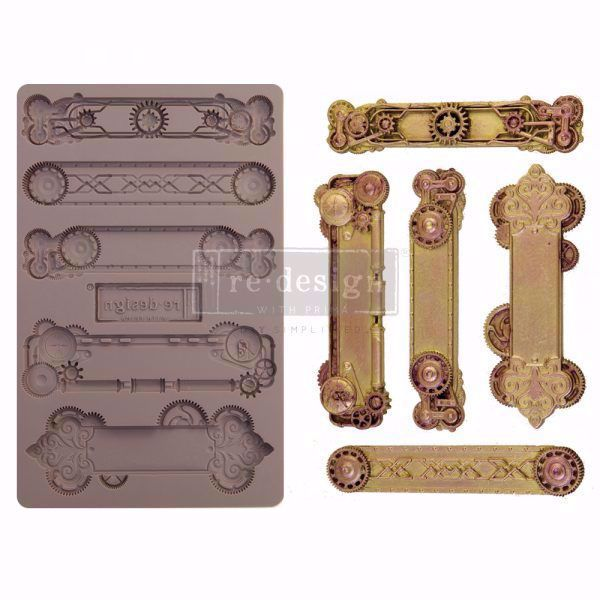 Re-Design with Prima Steampunk Plates - silikone Form - 652166