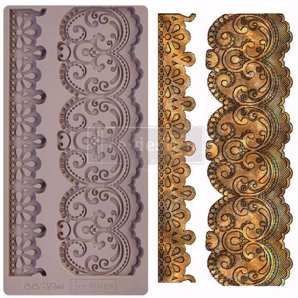 Re-Design with Prima Border Lace - silikone Form - 654344