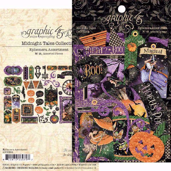 Graphic 45 Kort - Midnight Tales - Die Cut Assortment - 4502288
