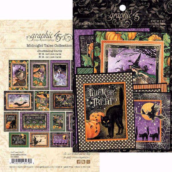Graphic 45 Kort - Midnight Tales - Journaling & Ephemera - 4502287