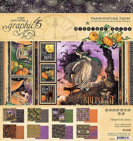 Papir blok 8x8 fra Graphic 45 - Midnight Tales - 4502282