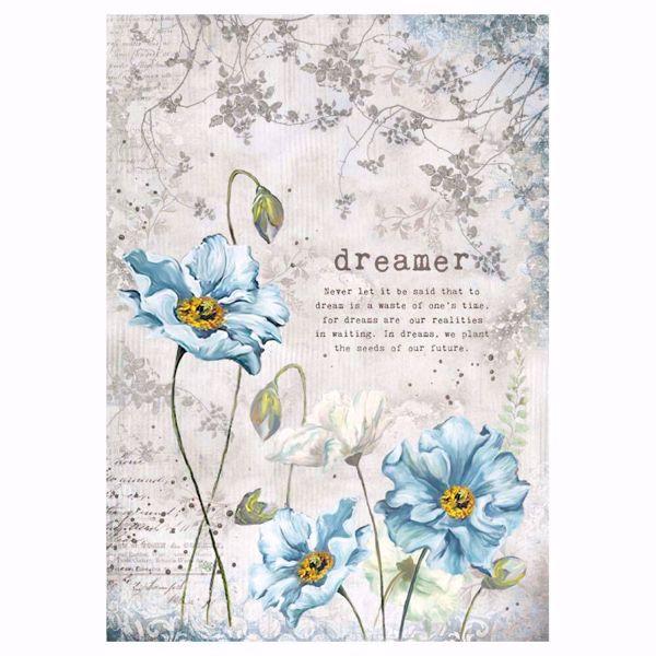 Stamperia Ris papir til decoupage scrapbooking og kort - DFSA4249 - Dreamer