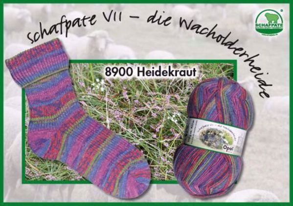 Opal Schafpeté VII strømpegarn kollektion