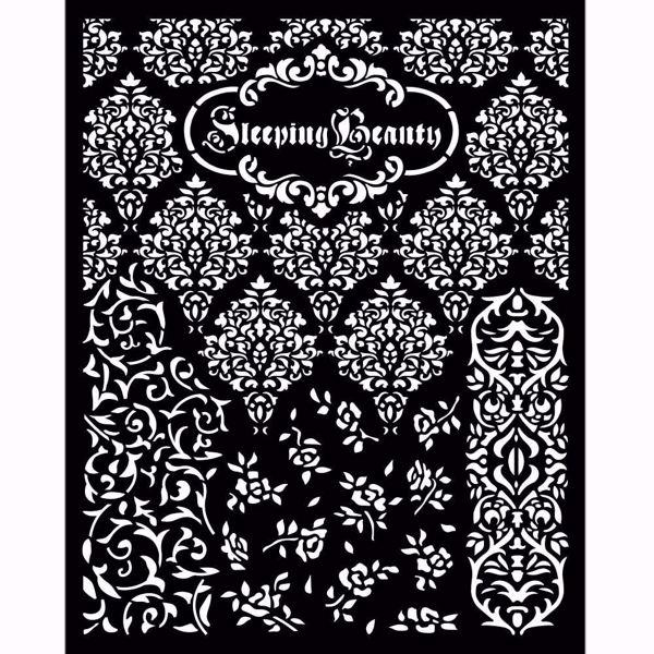 Sleeping Beauty Textures KSTD079 mask, stencil fra Stamperia