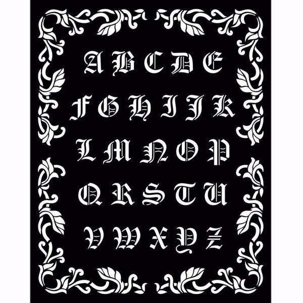 Sleeping Beauty Alphabet KSTD075 mask, stencil fra Stamperia