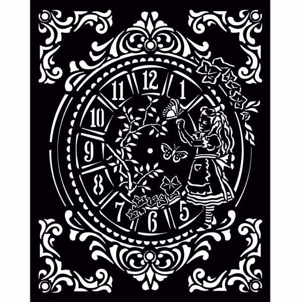 Alice Clock KSTD090 mask, stencil fra Stamperia