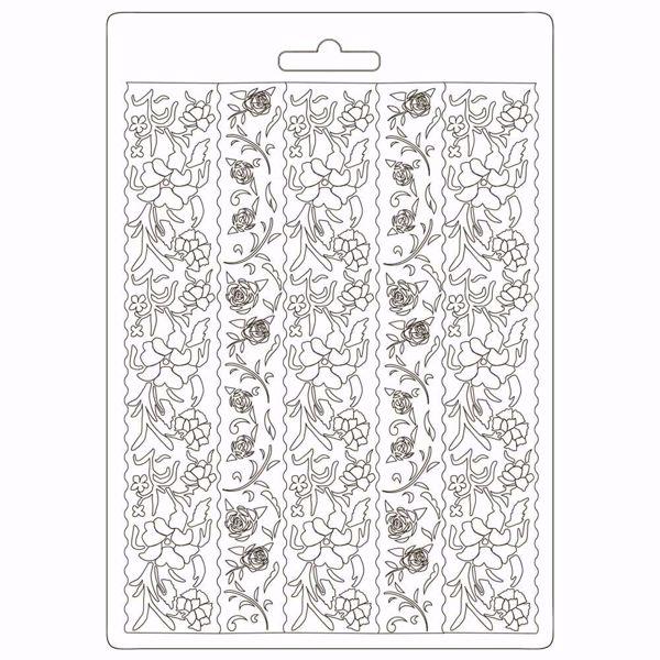 Stamperia Soft Mould Alice Borders - K3PTA588