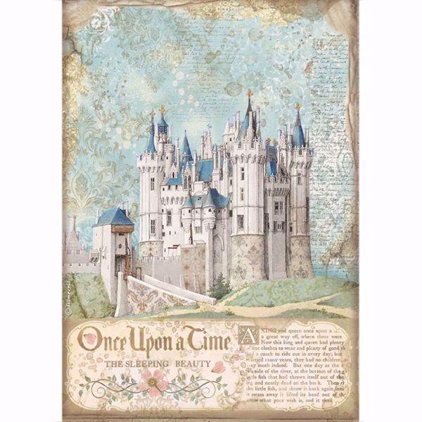 Stamperia Ris papir til decoupage scrapbooking og kort - DFSA4569 - Sleeping Beauty Castle