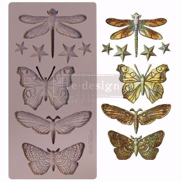 Re-Design with Prima Insecta & Stars - silikone Form - 652432