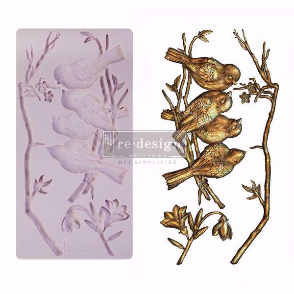 Re-Design with Prima Avian Love - silikone Form - 650438