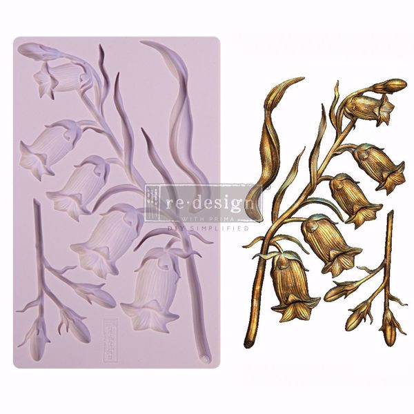 Re-Design with Prima Sweet Bellflower - silikone Form - 650506