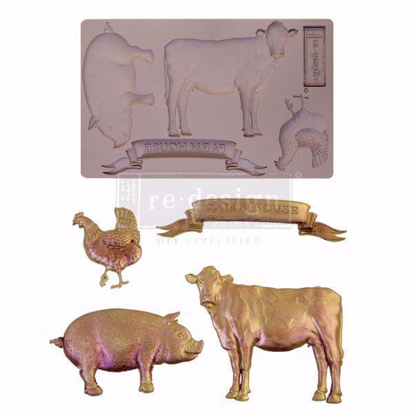 Re-Design with Prima Farm Animals silikone Form - 652029