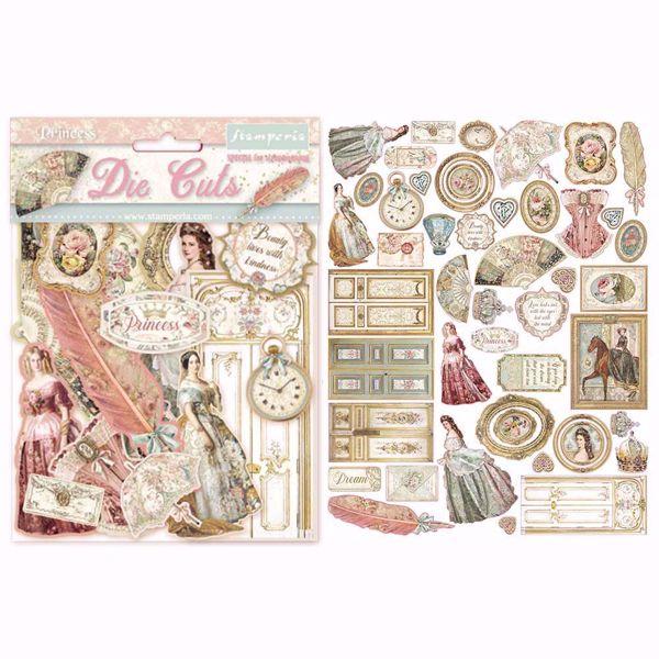Stamperia Princess design Die Cuts til scrapbooking og kort - DFLDC16