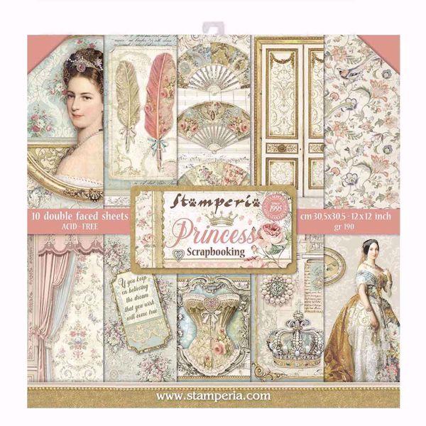 Stamperia Princess design papir pakning til scrapbooking og kort - SBBL75